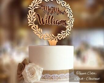 Mr & Mrs Wreath Cake Topper. Rustic wedding decor. Rustic cake topper. Wedding cake topper rustic. Cake topper rustic.