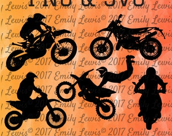 DIRTBIKE SVG - SVG - Cut Files -  Svg Cut Files - SVGs - Svg Cuts - Cricket - Silhouette - Vinyl - Instant Download - Wood - Signs - Decals
