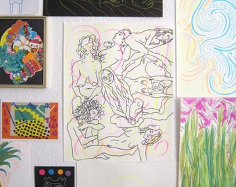 Womyn. Women. Womin: Colors and Contours Drawing