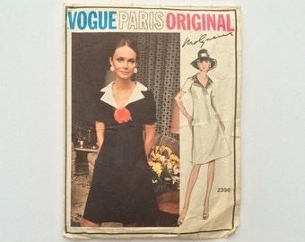 1960s Dress Sewing Pattern B38 : Vogue Paris Original Molyneux 2398