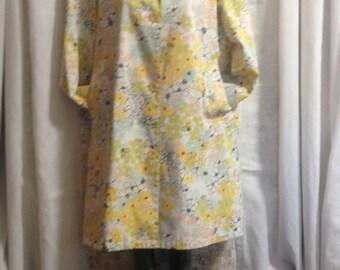 Irresistibles spring coat, designer coat, spring coat, cotton coat, funky floral coat