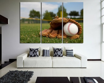 Baseball Wall Decor Baseball Wall Art Baseball Canvas Baseball Poster Baseball Print Baseball Photo Motivation Canvas Sport Photo Baseball