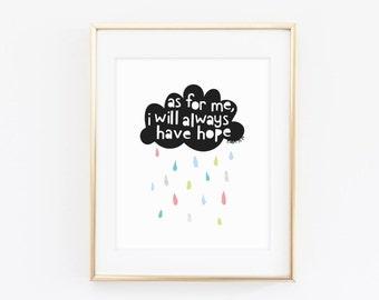 Could Nursery Hope Print, Nursery Scripture Print, Modern Nursery