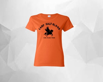 Percy Jackson Camp Half-Blood Shirt Camp Half Blood Women's T Shirt Camp Half Blood T Shirt Greek Gods Demi God Greek Mythology
