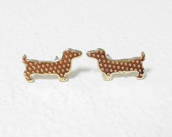 Dachshund Earrings, Dog Stud Earrings, Puppy Earrings, Animal Earrings, Sausage Dog Studs, Cute Dog Earrings, Doggy Earrings,