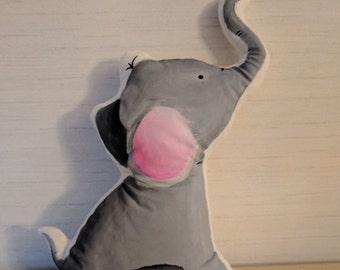 Handmade baby elephant cuddle toy