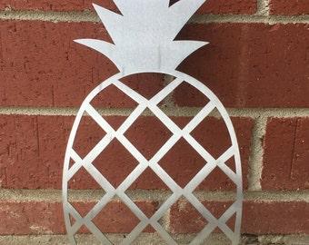 Metal Pineapple Sign, Metal Wall Art