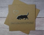 Bassett Hound birthday card or Bloodhound Card, Hound dog card, Handmade birthday card, Funny pun card, From the dog, for him, Brother, Son