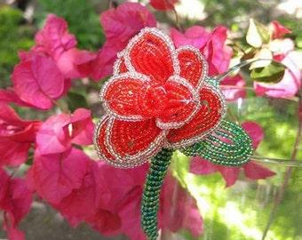 French Beaded Rose Headband