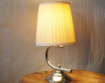 Charming small table lamp from the 50s. Vintage table lamp. Mid century living room decoration. Night table lamp with French charm. Europe