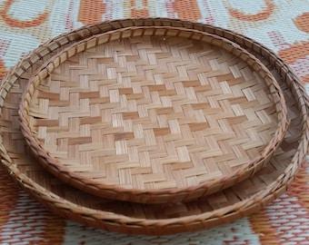 Handmade Woven Wicker Nesting Basket Set
