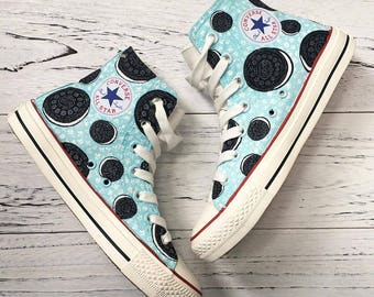 Hand Painted Converse Sneakers Cookie Design
