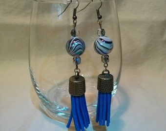 Diffuser earrings, Suede tassels, Essential oils, Aromatherapy