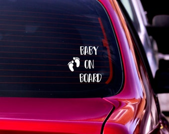 Car Decal, Baby on Board, Baby on Board Car Sticker, Baby on Board Decal, Vinyl Decal, Car Window Decal, Car Sticker, Car Decor, Car Vinyl