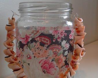 Paisley floral candle jar lantern