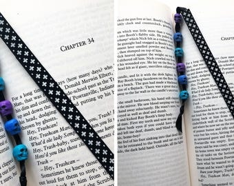 Ribbon bookmark / Skull bookmark / Card bookmark / Alternative / Hardback bookmark