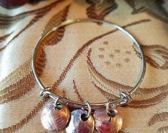 Coin Collector Charm Bangle Bracelet