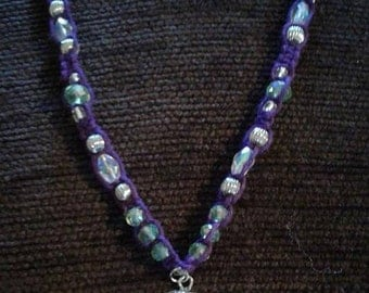 Purple Hemp Necklace