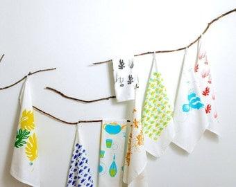 C A C T U S - G I F T  P A C K  x 4   - Hand Screen Printed - Tea Towels