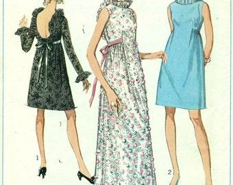 Simplicity 7949 LOW BACK Evening Dress Size 14 Bust 36 VINTAGE 1960s ©1968