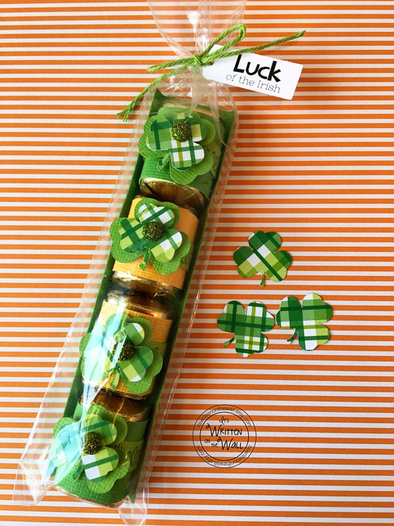 KIT Lucky Clover Nugget Wraps / St Patricks Day / Candy Wrappers / Hershey Nuggets / Classroom Treat  / Kids Candy /Nugget Tray /Candy Wraps
