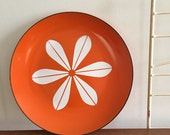 Vintage Cathrineholm Lotus Ware Platter Orange Plate White Greta Prytz Kittelsen Norway Tray SALE