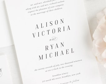Alison Wedding Invitations - Sample