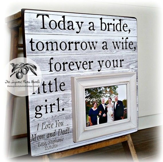 Personalized Wedding Photo Frames Uk : Father of the Bride Gift, Personalized Wedding Picture Frame, Today a ...