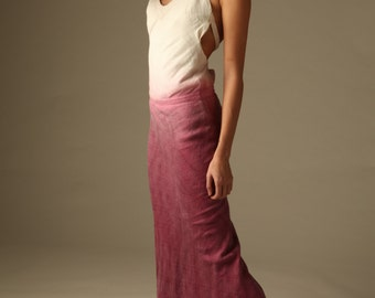 Halter Dip Dyed Dress