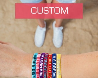 REMOVABLE Best friend bracelets with personalized message / Custom friendship bracelets for men and women / Handmade BFF gift