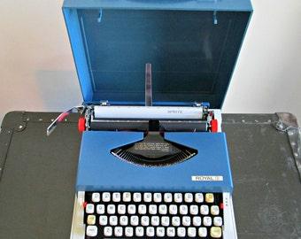 Vintage Portable Manual Typewriter - Royal Sprite Typewriter with Case - Retro Travel Compact Petite Typewriter