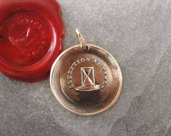 Hourglass Wax Seal Charm - antique wax seal jewelry pendant Time Seize The Day motto French carpe diem by RQP Studio