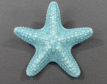 "Starfish Barrette Porcelain Jungle Starfish 2 1/4"". Starfish Jewelry. Mermaid Costume. Mermaid Hair. Barrettes and Clips. Beach Wedding."