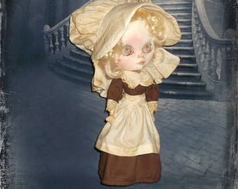 Blythe    ~ 1700s   Colonial Puritan Inspired ~ 4 Piece Outfit  ~  By KarynRuby
