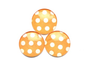 Glass Magnets - Cute Magnets - Orange Magnets - Cute Magnets - Office Supplies - Office Accessories - Magnet Boards