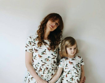 Matching Dresses - Matching Cotton Dress - Duck Print Dresses - Like Mother Like Daughter Dresses - Handmade by OFFON
