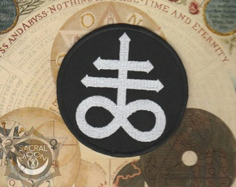 Brimstone Sulfur embroidered patch occult sigil esoteric satanic cross lucifer Leviathan Cross