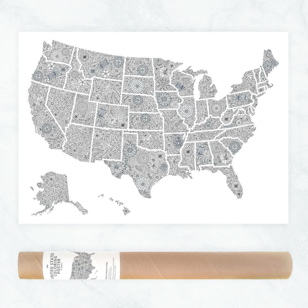 USA Travel Map Poster US Map To Color In Us Travel Map - Full page us map