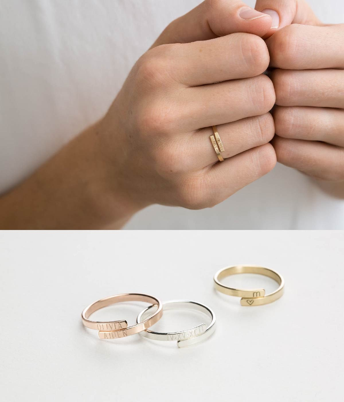 Simple Personalized Ring Gift For Sisters Ring Friend Ring