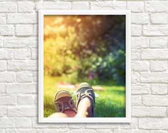 Fine art photography prints, summer bedroom decor, sunshine print, summer photography, girls bedroom decor, girls room art, yellow and green