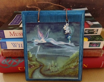 Adrift~ Hanging Wooden Fairy Ornament