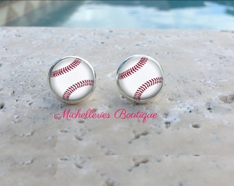 Baseball Earrings,Monogram Baseball Earrings,Baseball Jewelry,Baseball Accessories,Personalized Baseball,Gifts for Her,Gifts under 10, MB321