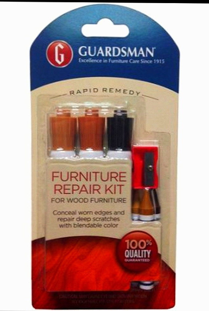Wood Furniture Repair 7 Piece Kit Rapid Remedy With 3 Brown Touch Up Markers 3 Wooden Putty