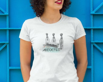 ALIEN ABDUCTED Women's Alien Abduction UFO T-Shirt