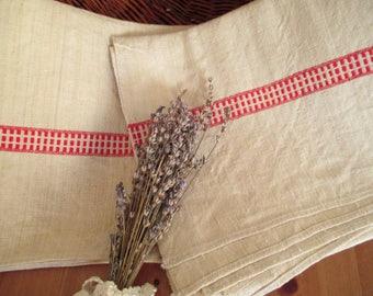 216. Flax linen hemp towel, vintage organic linen, homespun pure flax linen towel, flax linen hemp towel, handwoven guest towel  (unused)