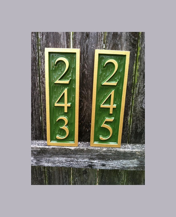 Vertical Address Sign Create Your Own House Number Custom