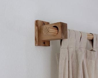 Curtains Ideas curtain rod hanger : Curtain rod holder | Etsy