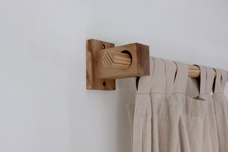 Curtain Holders Curtain Rod Holders Modern Wood Brackets