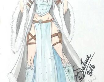 Elsa warrior ice queen cosplay