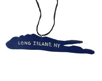 Long Island Ornament - Map Ornament - New York Ornament - Long Islander Gift - Christmas Ornament  - Polymer Clay Ornament